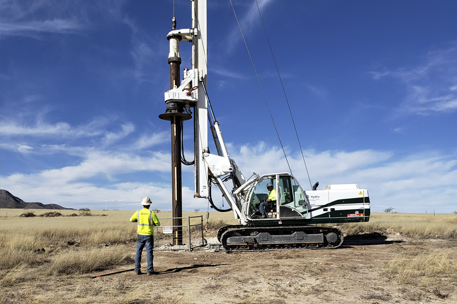 First Drill Rig
